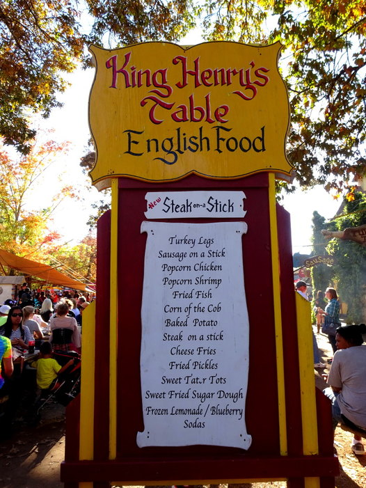 Food at the Renaissance Festival