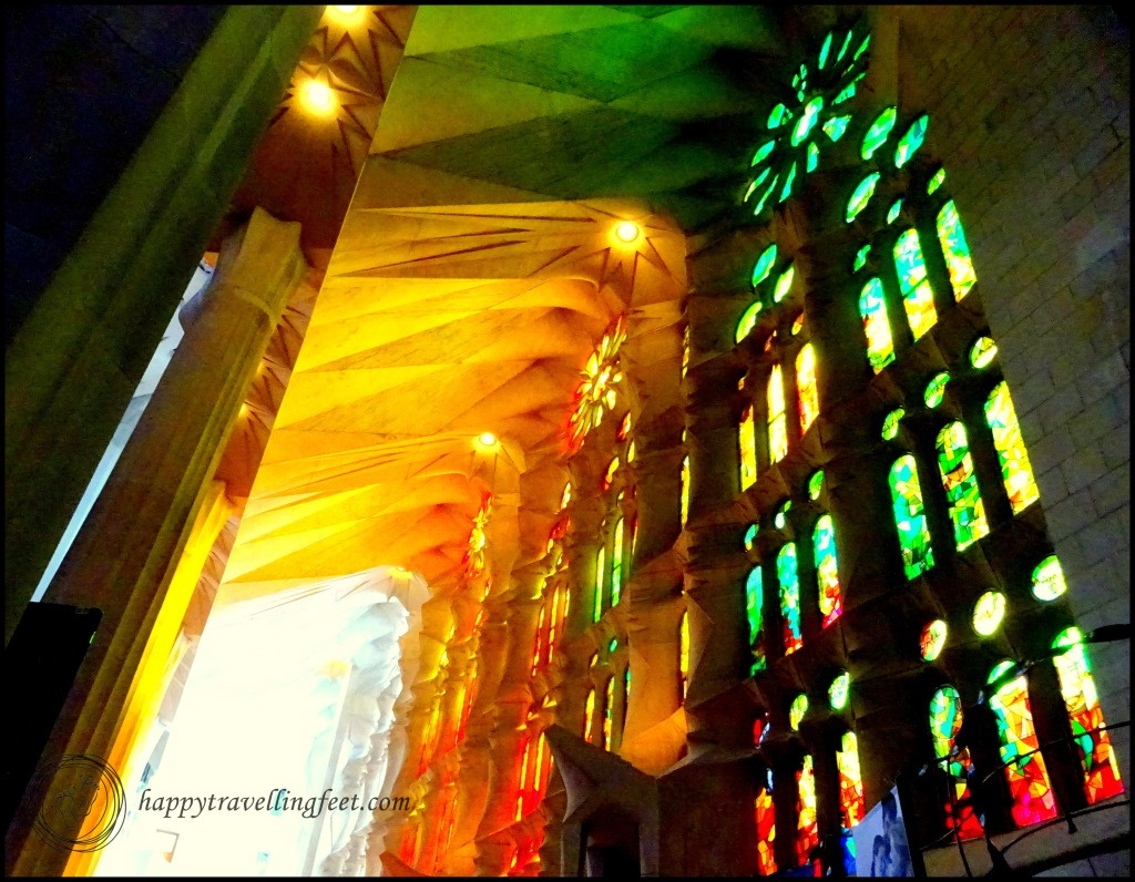 Stain glass windows at Sagrada familia